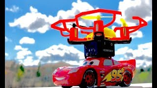 Disney Cars 3 Toys Educational Science Experiment - Can Hot Wheels Drone FLY McQueen? Short Version