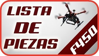 Construir/Armar Drone barato casero con GPS F450 - Lista de piezas en la descripción
