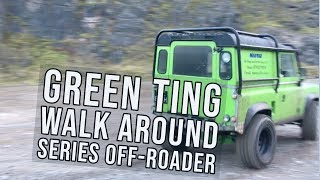 GREEN TING walk around. Land Rover Series Defender Rough Off Roader