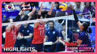Korea vs Thailand | Highlights | Aug 23 | AVC Asian Senior Women's Volleyball Championship 2019