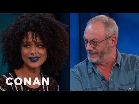 Nathalie Emmanuel & Liam Cunningham Talk Nude Scenes  - CONAN on TBS