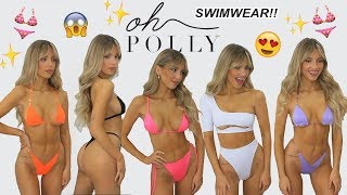 OH POLLY SWIM?! TRY ON HAUL!! LOL BACK WITH MORE BIKINIS & I AM SHOOK! 😱👙
