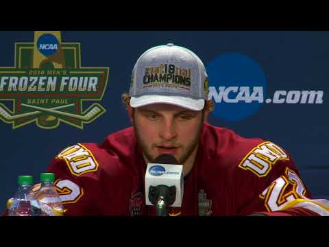 UMD 2, Notre Dame 1, Frozen Four Title Game. (04/07/2018) Post Game