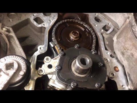Chevy 5.3L oil pump timing chain water pump harmonic balancer removal low oil pressure fix P0521