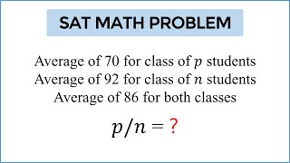 "Can You Solve The ""MEANEST"" SAT Test Question Ever?"