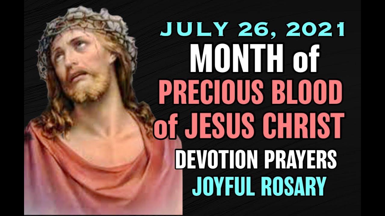 Download ♥︎July Devotion♥︎Precious Blood of Jesus♥︎July 26 ♥︎ Holy Rosary Joyful Mysteries Monday & Saturday