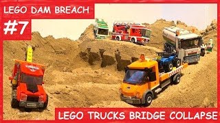 LEGO DAM BREACH #7 - LEGO TRUCKS BRIDGE COLLAPSE