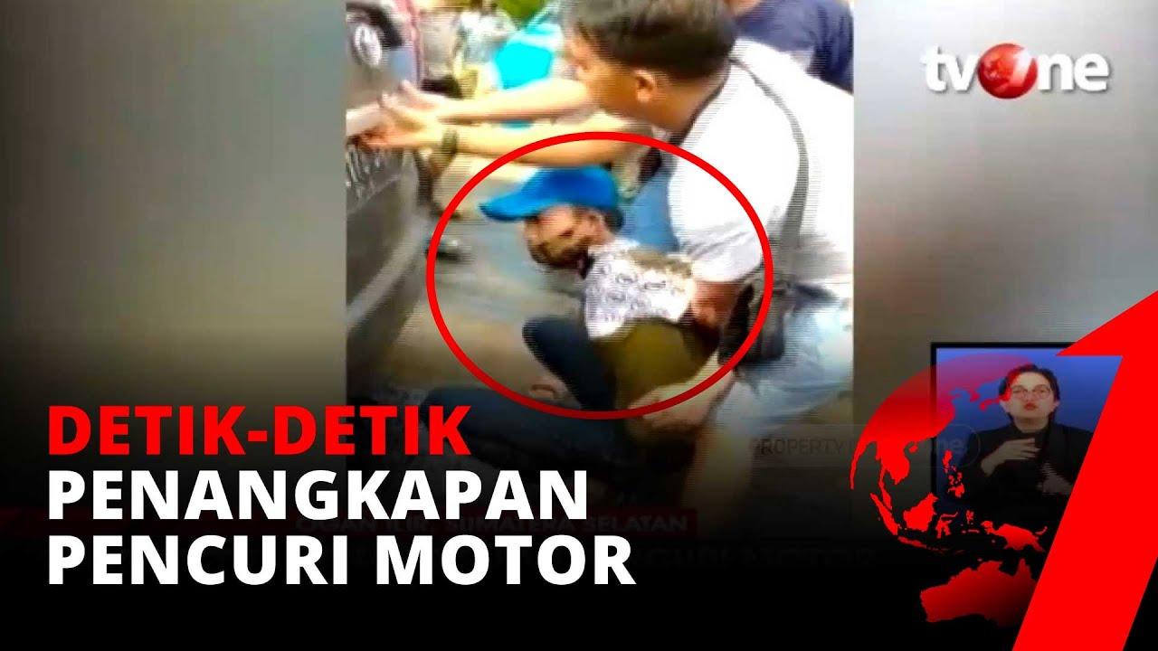 Bak Film Action, Detik-detik Penangkapan Pencuri Motor, Polisi Kejar & Letuskan Senjata Api | tv