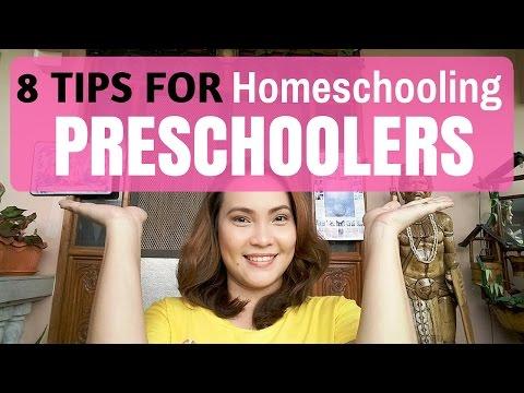 8 Easy Tips for Homeschooling Preschoolers