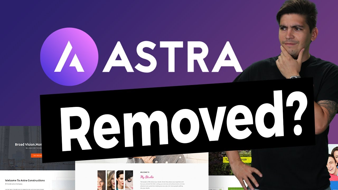 The ASTRA THEME was Temporarily Removed From Wordpress, Hear Why..
