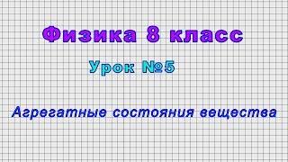 Физика 8 класс (Урок№5 - Агрегатные состояния вещества.)