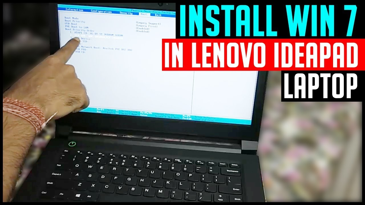 Install windows 7 in Lenovo Ideapad 310, V310, 110, G50 (Works on all  Lenovo model)