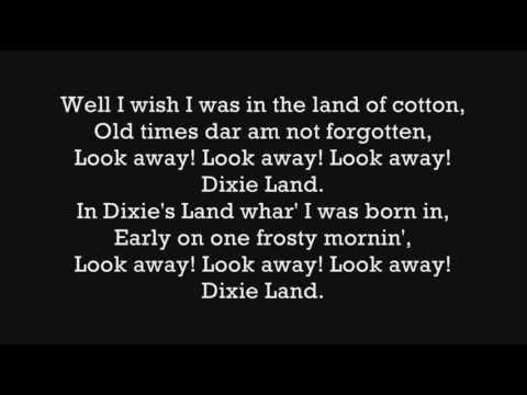 Dixie Land Lyrics (HD)