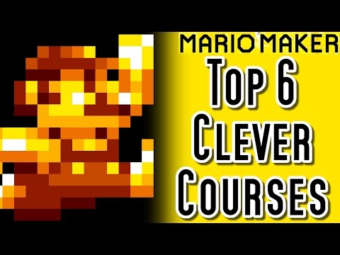 Super Mario Maker TOP 6 CLEVER COURSES (Wii U)
