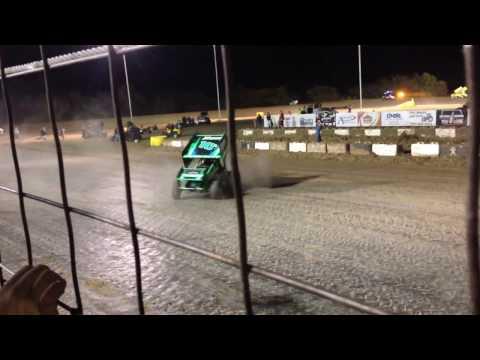 Jeremy Campbell donuts Salina Speedway 10/22/16