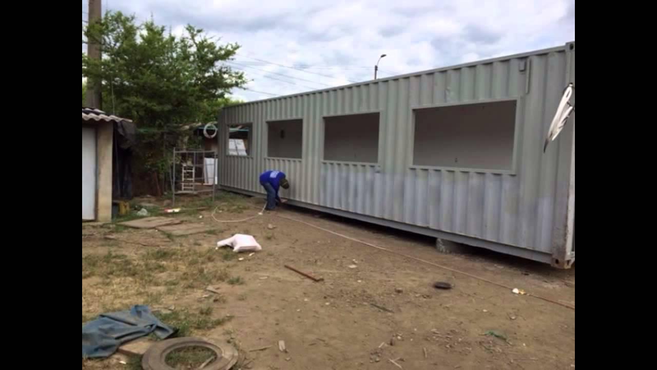 Construcci n de un contenedor de 40 pies oficina youtube for Contenedores de oficina