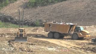 Cat® 740 bare chassis Articulated Truck, Smith Gap Landfill in Roanoke County, Virginia