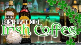 Hoe Maak je Irish Coffee | AJ De Barman