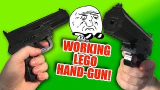 WORKING Lego Hand-gun - ACTUALLY FIRES!