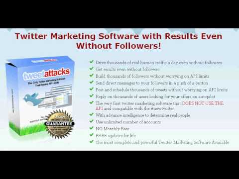 TweetAttacks: Twitter Marketing Software With Results (I make $37 a month)