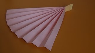 видео как сделать веер из бумаги