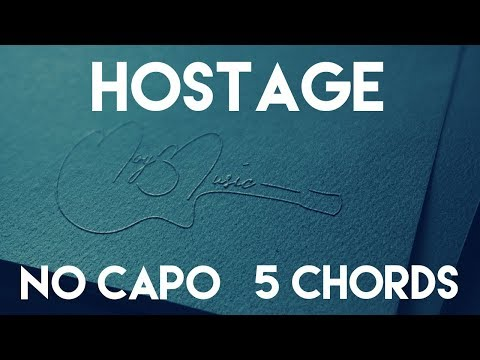 How To Play Hostage by Billie Eilish | No Capo (5 Chords) Guitar Lesson