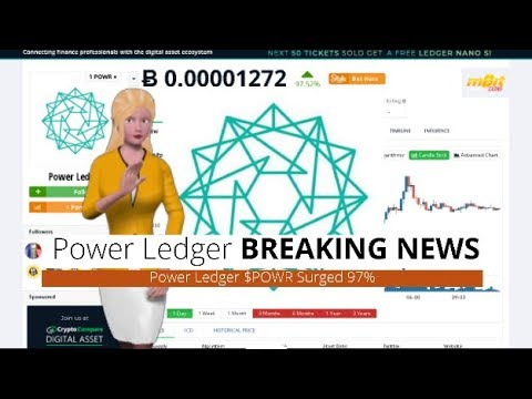 Cryptocurrency Power Ledger $POWR Rose 97% In The Past Day