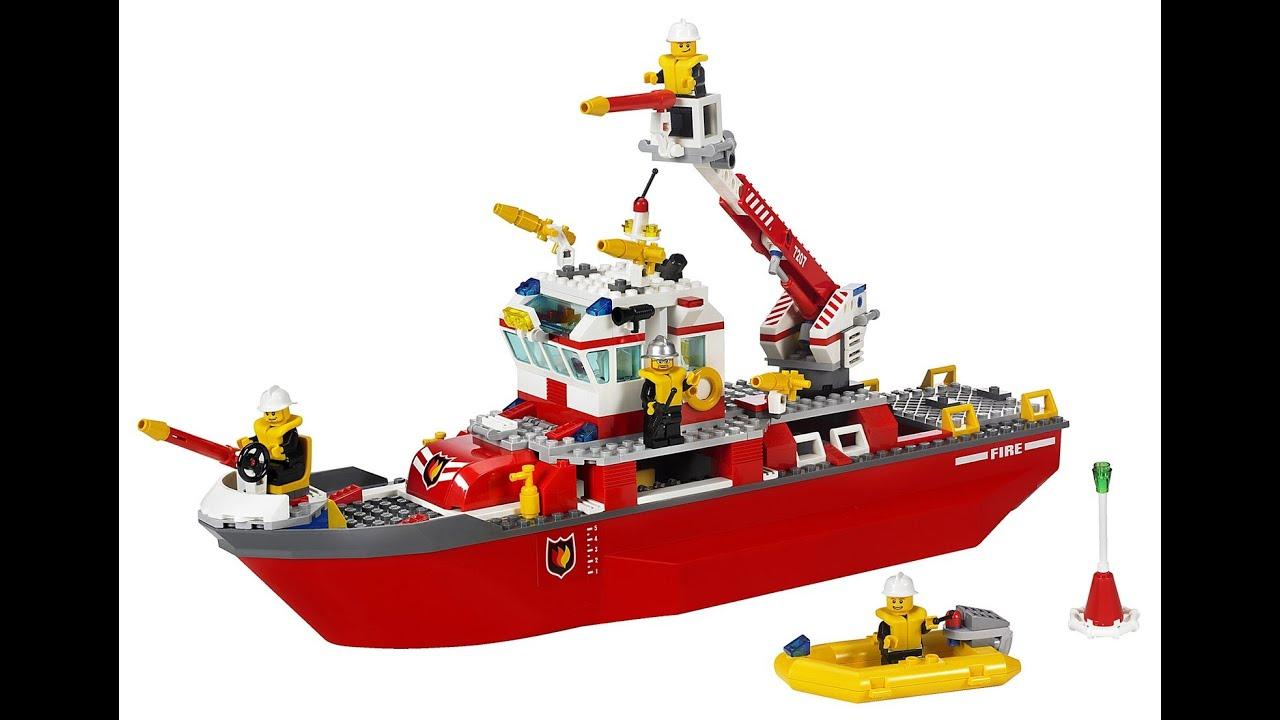 lego city bateau de pompier jouets pour enfants - Lego City Pompier