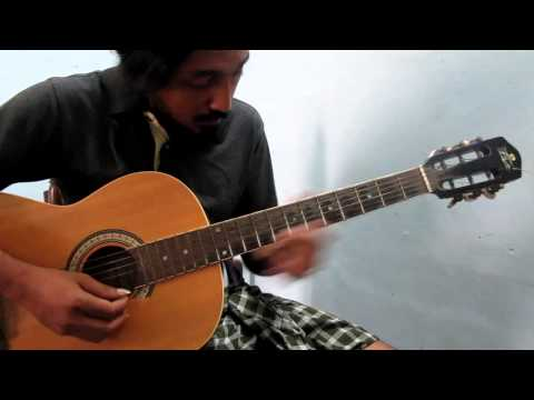 Narumugaye on Guitar - Arrahman Tamil lead on Acoustic guitar (Indian classical based song)