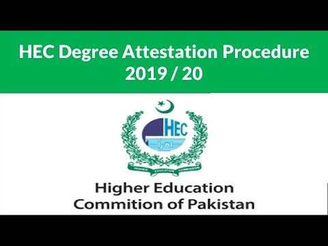 hec degree attestation online portal   how to apply for degree attestation from hec   2019/20