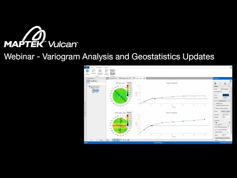 Webinar: Vulcan 10 Variogram Analysis and Geostatistics Updates