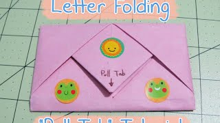 """Pull Tab"" Letter Folding (Origami)"