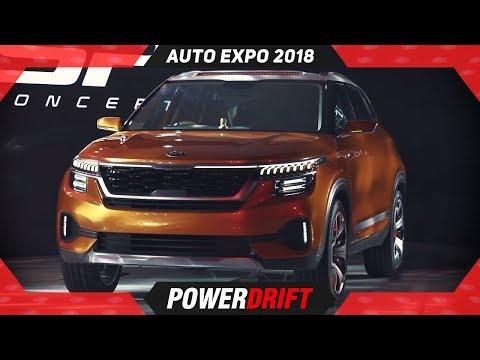 2018 Kia SP Compact SUV @ AutoExpo : India's First Kia : PowerDrift