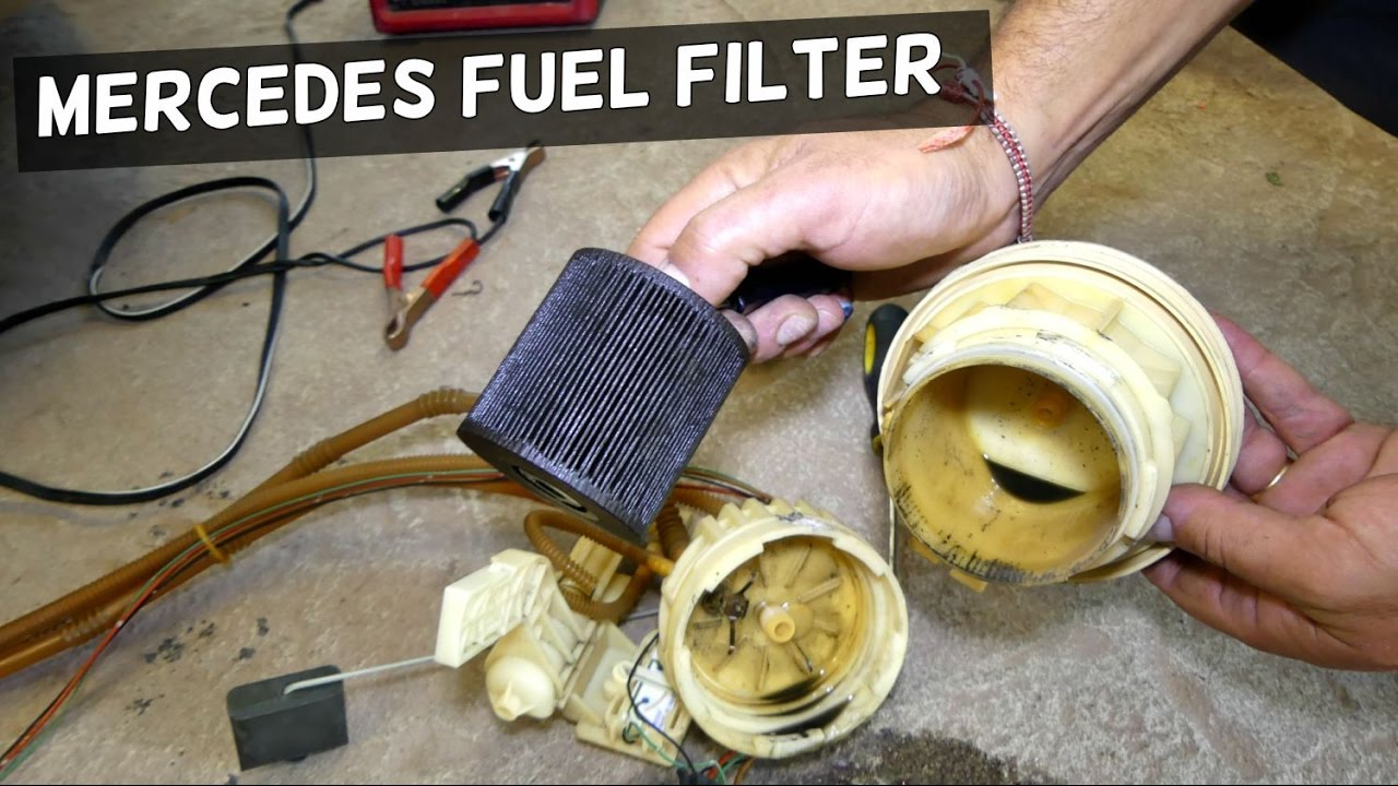 mercedes w211 e class fuel filter removal replacement e200 e230 e240 e280 e320 e350 e500 e550 e55 [ 1280 x 720 Pixel ]