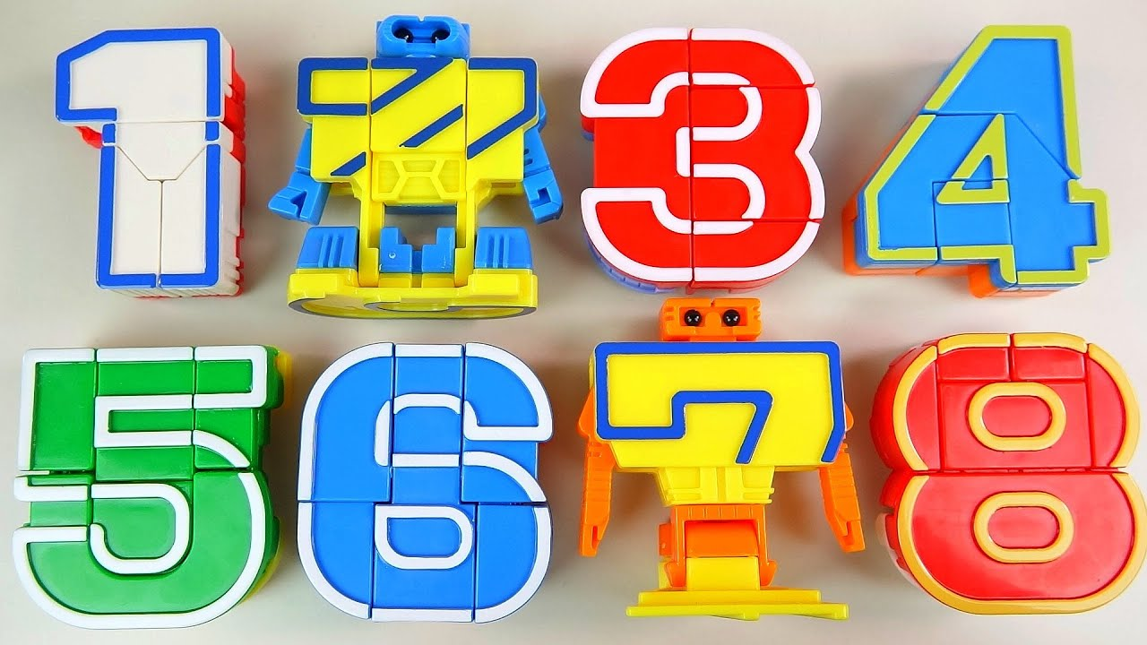 123 number robot transformers toy youtube for Blueprint number