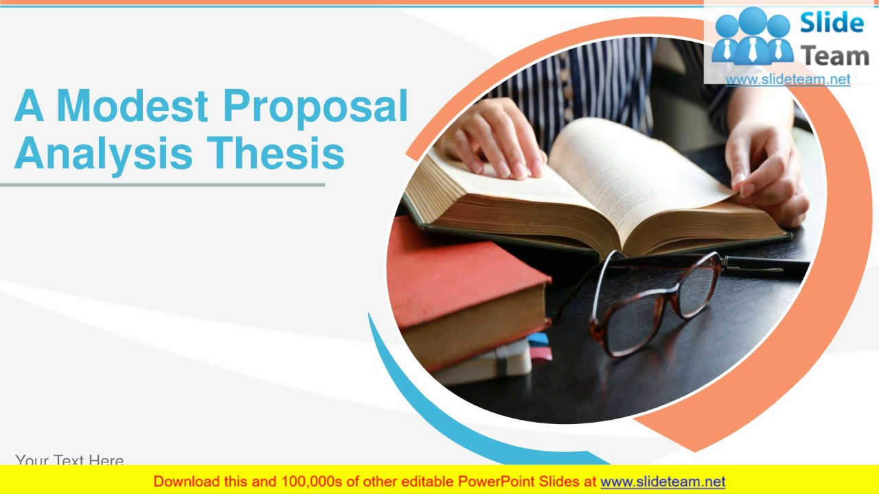 a modest proposal review