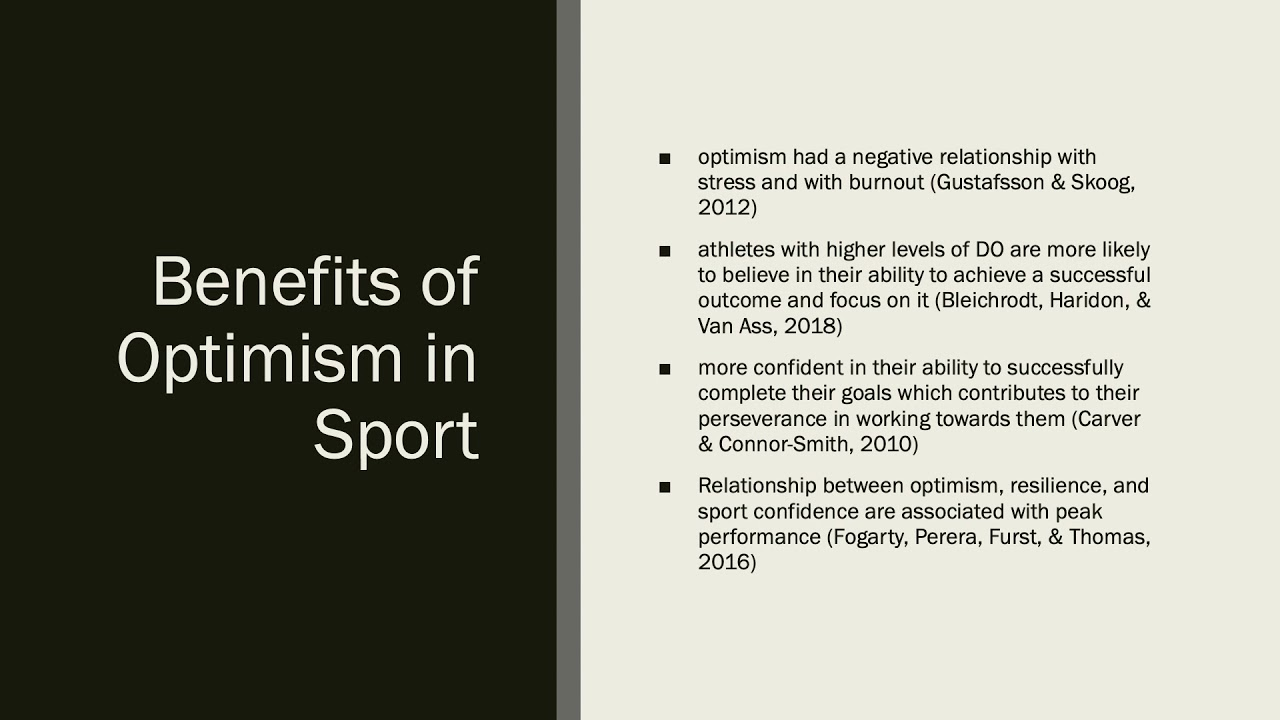 Parental Behaviors Contributing Factors in the Development of Dispositional Optimism in Sport Leftwi