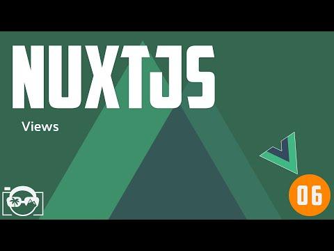 Nuxt.js tutorial for beginners - nuxt.js views / vue-cli component - static seo views thumbnail