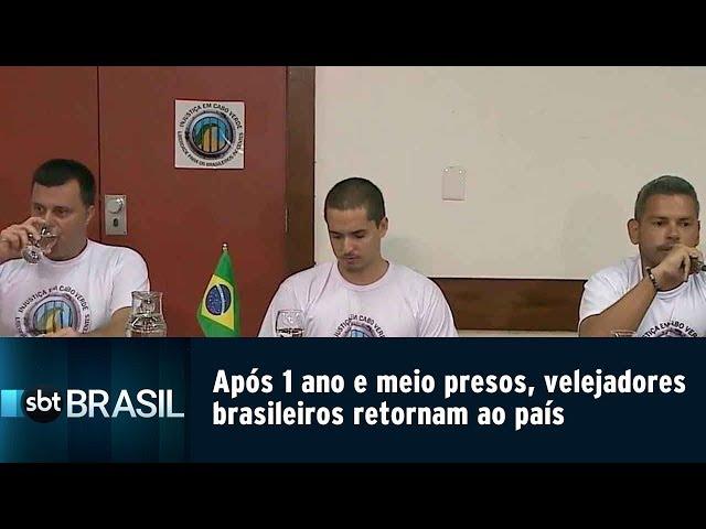 Após 1 ano e meio presos, velejadores brasileiros retornam ao país   SBT Brasil (14/02/19)