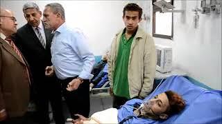 ِمحافظ الاسماعيلية يتابع ميدانيا السيطرة على حريق  محدود نشب بمستشفى جامعة قناة السويس