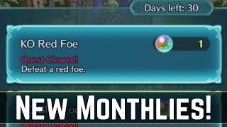 The New Monthly Quests! Fewer Orbs but Faster Grinding? (´・ᴗ・ ` ) | FEH News 【Fire Emblem Heroes】