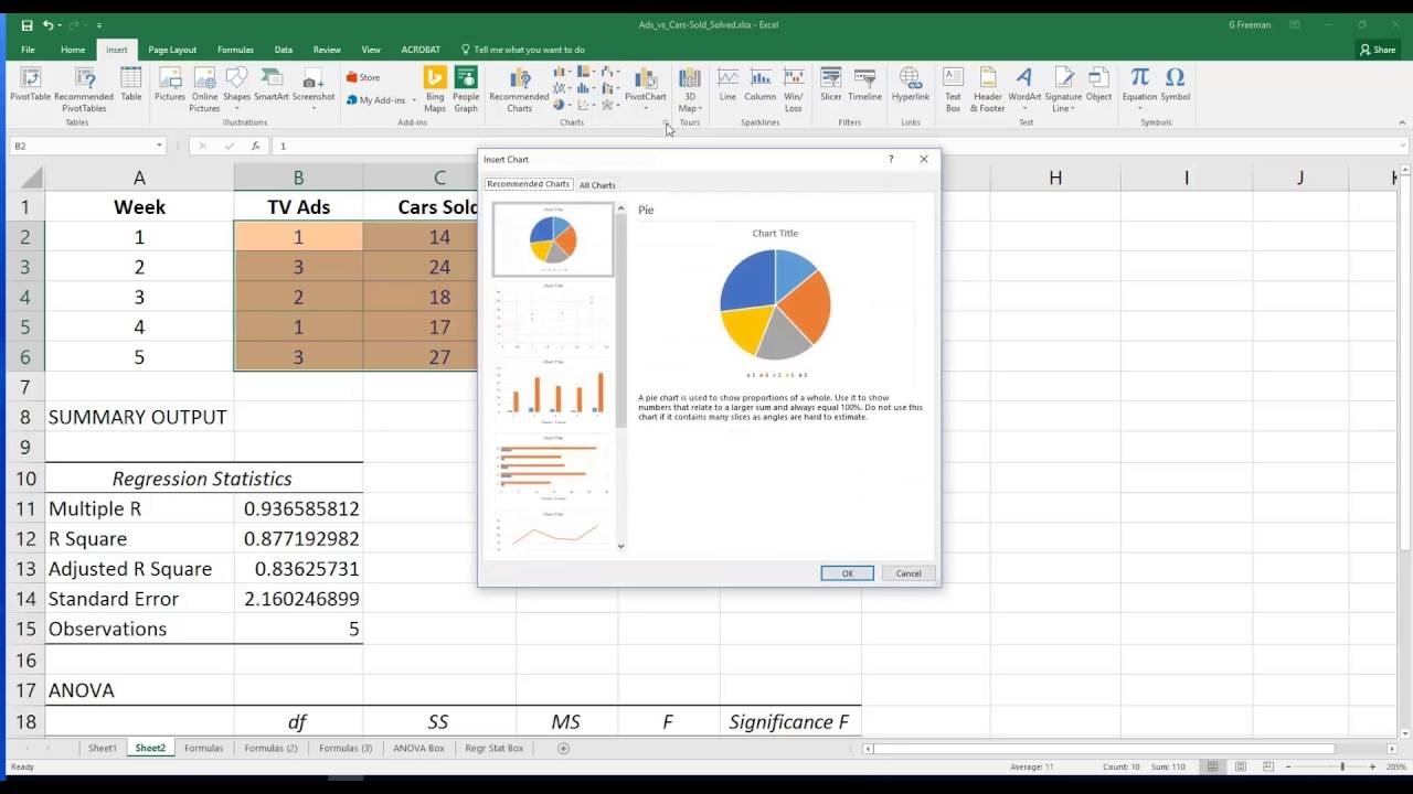 how to make a scatter diagram in excel