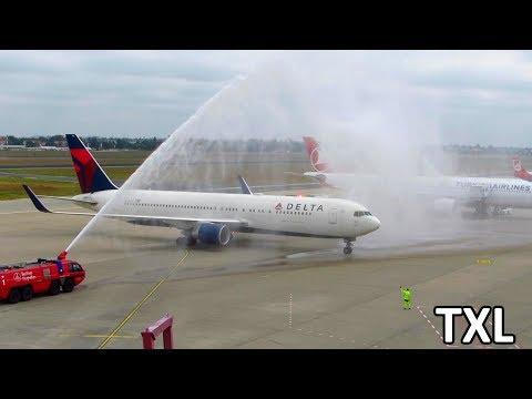 Planespotting at Berlin Tegel Airport TXL: Delta 767 Inaugural, 777, A330 & more! [Full HD]