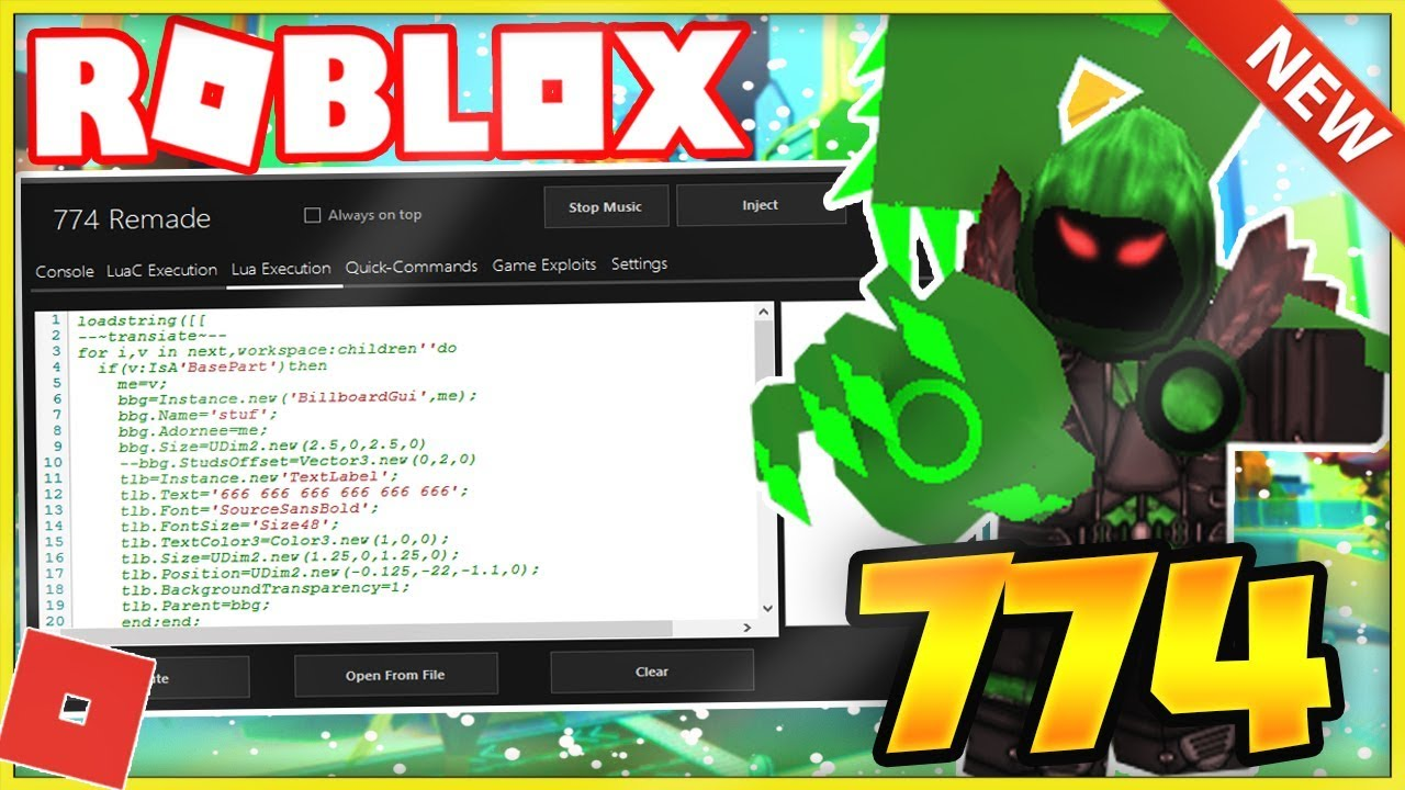 New Roblox Exploit Hack 774 Works Lvl 7 Lua Wrapper W Harambe