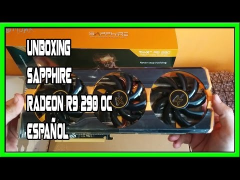 SAPPHIRE TRI-X R9 290 4GB GDDR5 OC(UEFI) - UNBOXING - Español