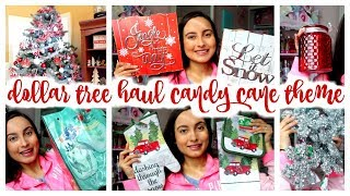 LOOK AT ALL THE CHRISTMAS STUFF I FOUND AT DOLLAR TREE! CANDY CANE THEME!