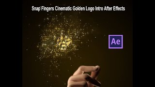 Snap Fingers Cinematic Golden Logo Intro After effects
