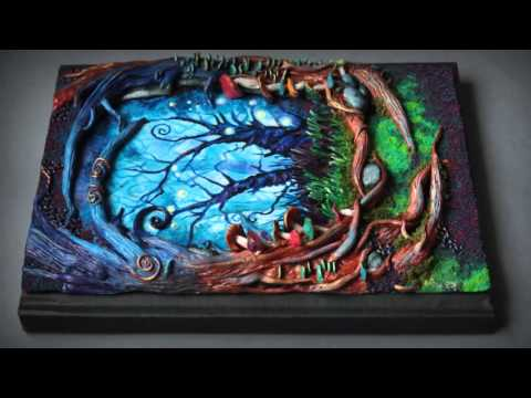 wonderland polymer clay notebook journal cover youtube