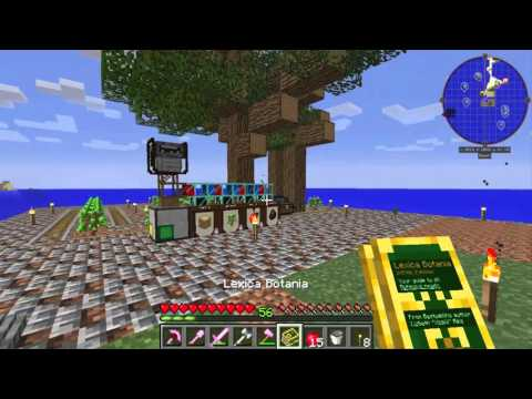 Minecraft Modded Survival world: Infinity Evolved EP 5: BC pipes and botania flowers