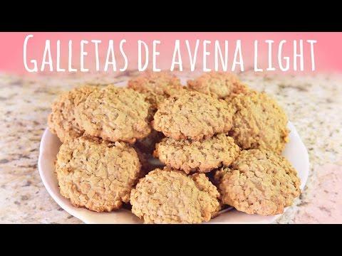 Receta de galletas de avena deliciosas, light y saludables